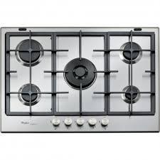 plaque cuisine gaz table de cuisson ixelium 75 cm 5 feux a gaz whirlpool