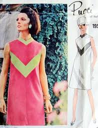 v shaped dress pattern mod pucci high fitting mod dress pattern vogue couturier design 1955
