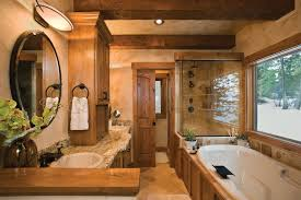 log home bathroom ideas focus on bath design
