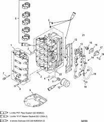 mercury marine 50 hp bigfoot 4 stroke cylinder block parts