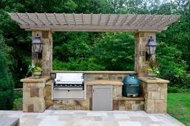 Outdoor Kitchen Ideas On A Budget Backyard Covered Outdoor Kitchens Covered Outdoor Kitchen With