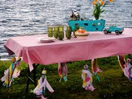 how to make tablecloth weights for a picnic table diy