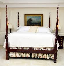 king size four poster mahogany rice bed and step stool ebth