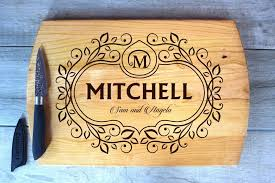 cutting boards engraved large cutting board laser engraved mitchell design made