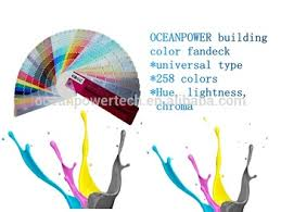 building paint color shade card with 258 colors universal type 6