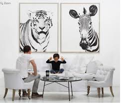 wall art designs zebra wall art exotic tiger and zebra wall art