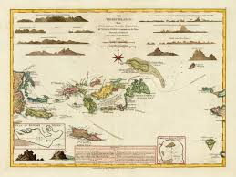 Map Of Virgin Islands 1797 Virgin Islands Map Bvi Usvi Battlemaps Us