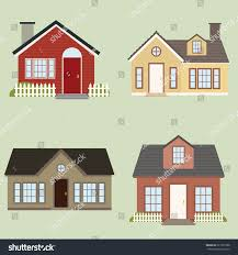 abstract cute houses on light green stock vector 227931808