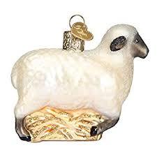 world sheep glass blown ornament home