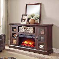 tv stand 70 u2033 media fireplace wood entertainment storage console