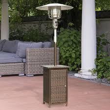 patio table with heater homcom 12 kw patio gaz heater aosom co uk