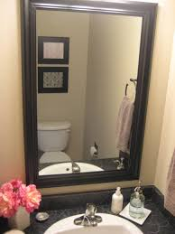 Big Wall Mirrors by Bathroom Cabinets Framed Bathroom Mirrors Ideas Oval Bathroom