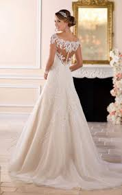 lace wedding gown the shoulder lace wedding dress with sleeves stella york