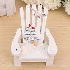1pc wood decoration mediterranean style wooden mini beach chair