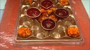 Diwali Decoration Home Ideas by Rangoli Making In Empty Ferrero Rocher Box Diwali Decoration