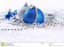 silver and blue decorations royalty free stock images