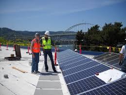 bureau of meter solar array on portland water bureau meter shop department of energy