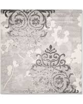 10 Square Area Rugs Deal Alert Safavieh Adirondack 10 U0027 Square Area Rug In Silver Ivory