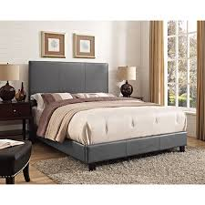 Upholstered Bed Frame Cole California by Jacky Thomas Contemporary Upholstered Bed Queen Magnetite