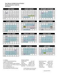 san marcos unified school district calendar
