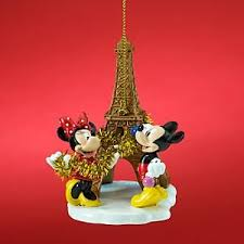 disney minnie and mickey mouse eiffel tower ornament