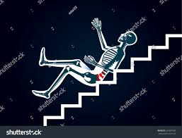 Pain Climbing Stairs by Human Have Back Pain Slip Down Stock Vector 623667503 Shutterstock