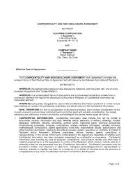 non disclosure agreement form 4 free templates in pdf word