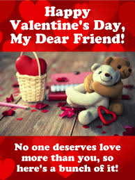 valentines day cards for friends you deserve lots of happy s day card for friends