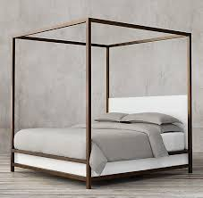Four Poster Canopy Bed Frame Low Panel Canopy Bed