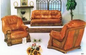 canape cuir et bois salon cuir et bois avec tiroirs 680 comparer les prix de salon