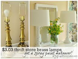 Spray Painting Brass Light Fixtures Yes You Can Spray Paint Those Thrift Store Brass Ls