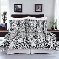 Zebra Print Single Duvet Set Zebra Duvet Cover Ebay
