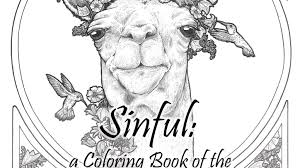 the seven deadly sins sinful a coloring book of the seven deadly sins by lindsey kahn