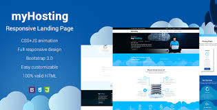 myhosting bootstrap landing page html template by exsythemes