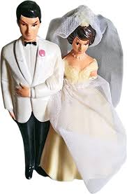 vintage cake topper appraisal of a 1950s era wedding cake topper