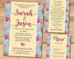 shabby chic wedding invitation etsy uk