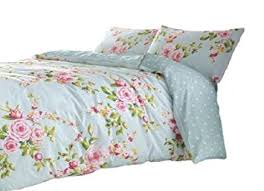 amazon com superb cotton full pink blue rose floral reversible