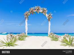wedding arch gazebo wedding venue wedding setup image photo bigstock