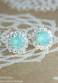 turquoise bridal earrings mint opal earrings bridesmaid earrings aqua mint earrings seafoam