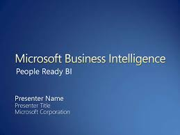 Business Intelligence Vision Statement Exles by Microsoft Business Intelligence Vision And Strategy