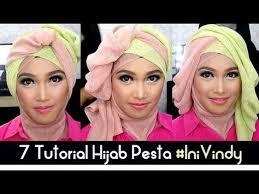 tutorial makeup natural hijab pesta 7 tutorial hijab pesta dan wisuda inivindy youtube hijab