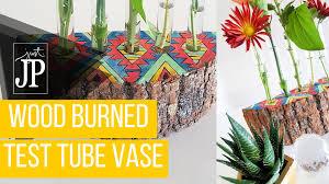 Test Tube Flower Vases Diy Test Tube Bud Vase In A Wood Slice Handmadeholidays2015 Youtube
