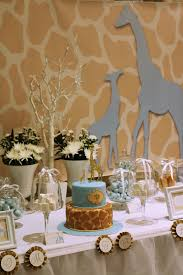giraffe baby shower decorations the cutest party on the block giraffe baby shower
