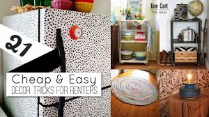 21 home decor ideas for renters youtube
