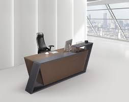 podium style reception desk high end office furniture white cheap small modern front within