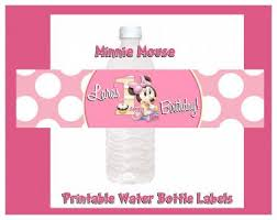 minnie mouse printable water bottle labels free shipping