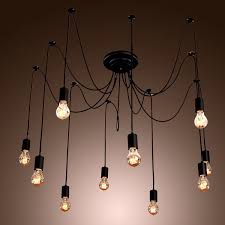 Diy Ceiling Light by Vintage Edison Chandelier Light Retro Loft Diy Ceiling Pendant