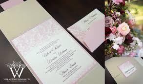 Blush Wedding Invitations Ivory Designs U2013 A Vibrant Wedding