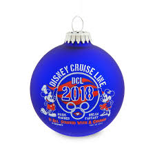 Cruise Ornament Mickey And Minnie Mouse 2018 Glass Ornament Disney Cruise Line