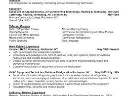 Mechanic Resume Template Hvac Technician Resume Sample Resume Samples And Resume Help